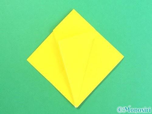 折り紙で水仙の立体的な折り方手順60