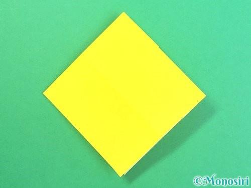 折り紙で水仙の立体的な折り方手順61