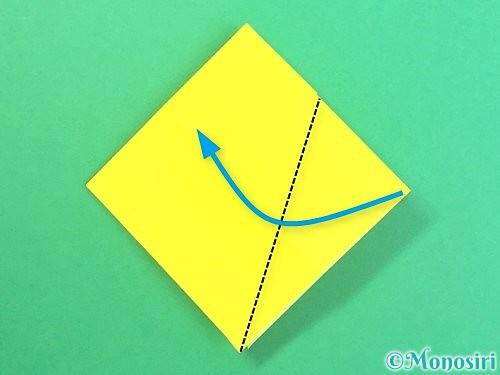 折り紙で水仙の立体的な折り方手順62