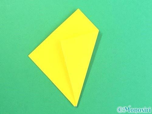 折り紙で水仙の立体的な折り方手順63