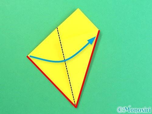 折り紙で水仙の立体的な折り方手順64