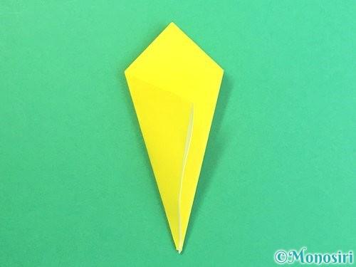折り紙で水仙の立体的な折り方手順65