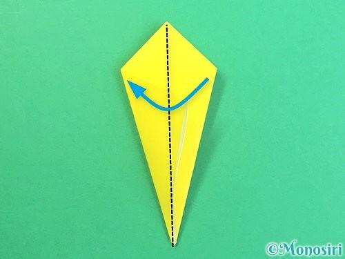 折り紙で水仙の立体的な折り方手順66