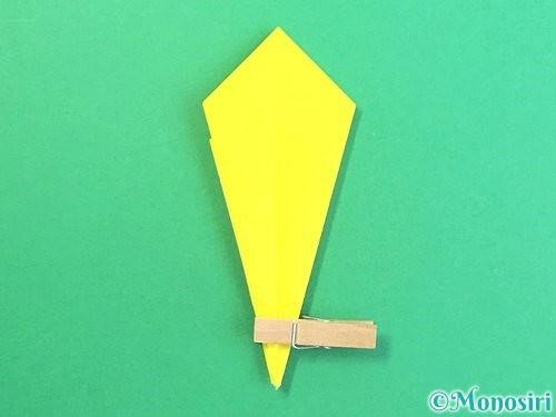 折り紙で水仙の立体的な折り方手順67