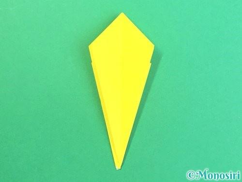 折り紙で水仙の立体的な折り方手順68