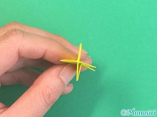 折り紙で水仙の立体的な折り方手順69