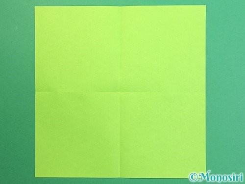 折り紙でりんごの折り方手順2