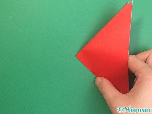 折り紙でりんごの折り方手順10