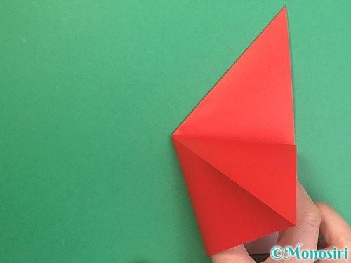 折り紙でりんごの折り方手順11