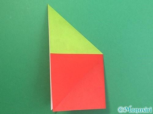 折り紙でりんごの折り方手順15