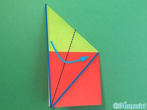 折り紙でりんごの折り方手順16