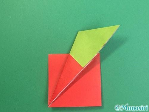 折り紙でりんごの折り方手順17