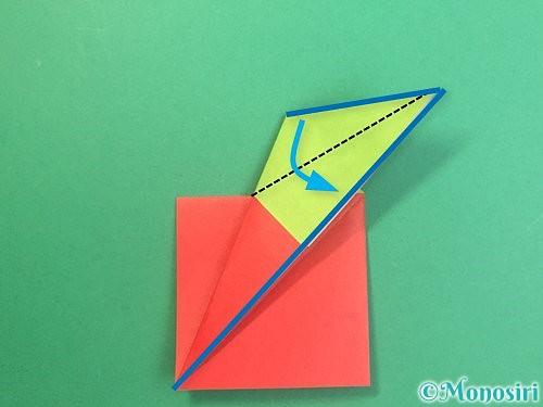 折り紙でりんごの折り方手順18