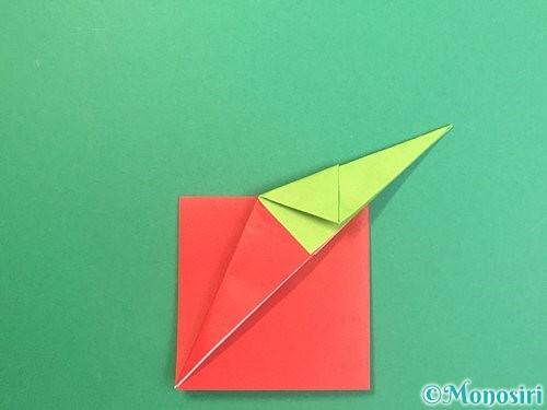 折り紙でりんごの折り方手順19
