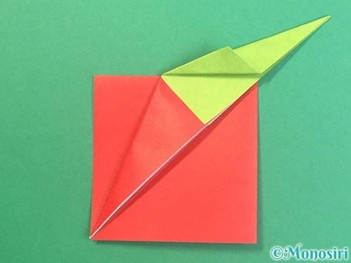折り紙でりんごの折り方手順21