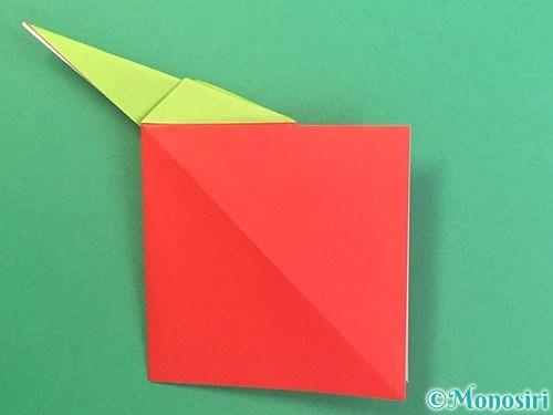 折り紙でりんごの折り方手順22