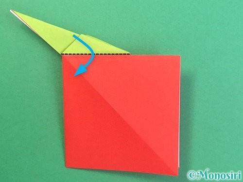 折り紙でりんごの折り方手順23