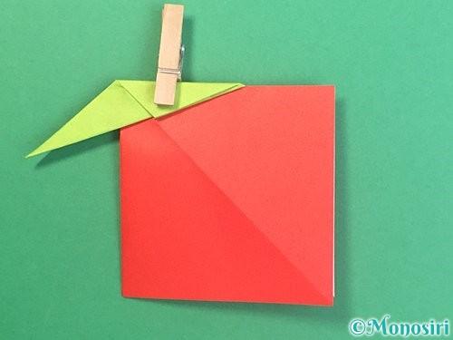 折り紙でりんごの折り方手順24