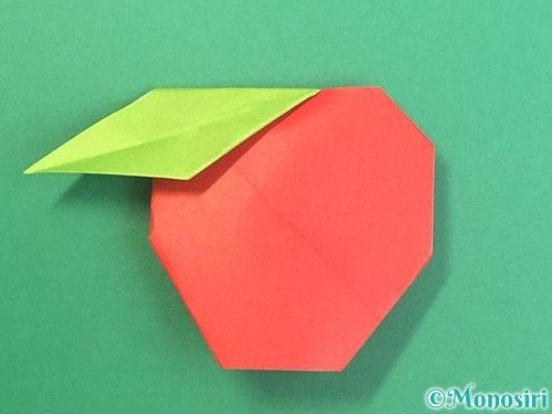 折り紙でりんごの折り方手順28