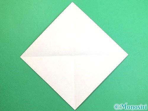 折り紙でみかんの折り方手順2