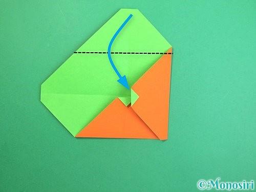 折り紙でみかんの折り方手順11