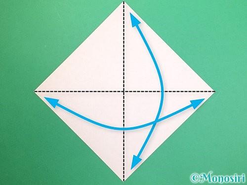 折り紙で鏡餅の折り方手順1