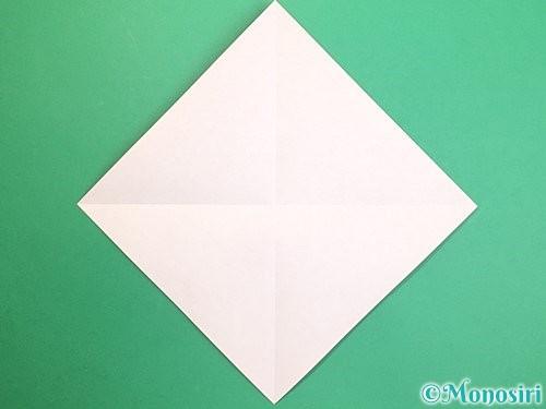 折り紙で鏡餅の折り方手順2