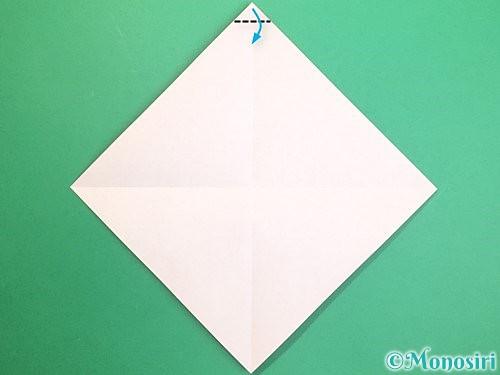 折り紙で鏡餅の折り方手順3