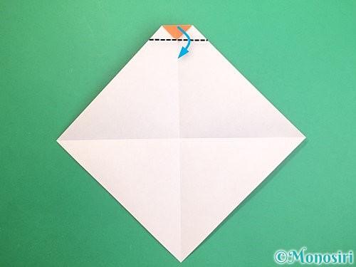 折り紙で鏡餅の折り方手順5