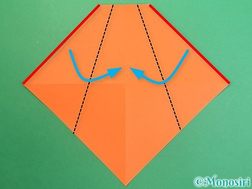 折り紙で鏡餅の折り方手順8