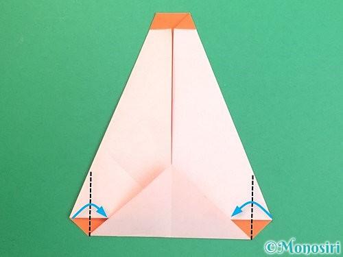 折り紙で鏡餅の折り方手順12