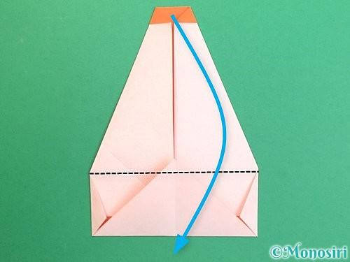 折り紙で鏡餅の折り方手順14