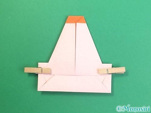 折り紙で鏡餅の折り方手順17