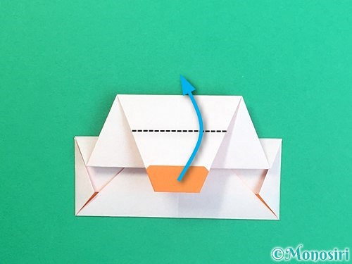 折り紙で鏡餅の折り方手順20