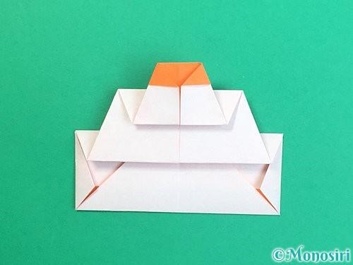 折り紙で鏡餅の折り方手順21