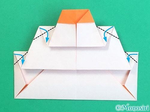 折り紙で鏡餅の折り方手順22