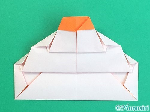 折り紙で鏡餅の折り方手順23