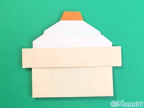 折り紙で鏡餅の折り方手順43