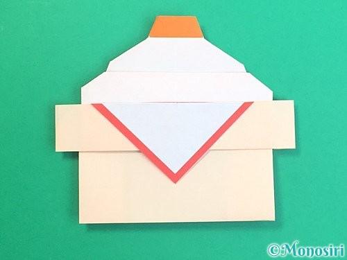 折り紙で鏡餅の折り方手順44
