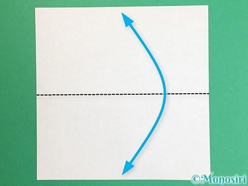 折り紙で羽子板と羽根の折り方手順1