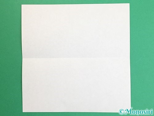 折り紙で羽子板と羽根の折り方手順2