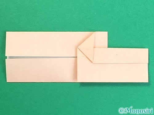 折り紙で羽子板と羽根の折り方手順16