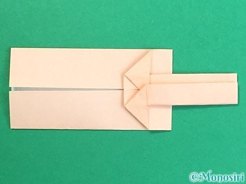 折り紙で羽子板と羽根の折り方手順17