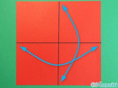 折り紙で羽子板と羽根の折り方手順21
