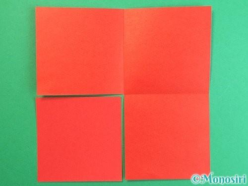 折り紙で羽子板と羽根の折り方手順23