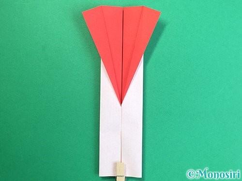 折り紙で羽子板と羽根の折り方手順35