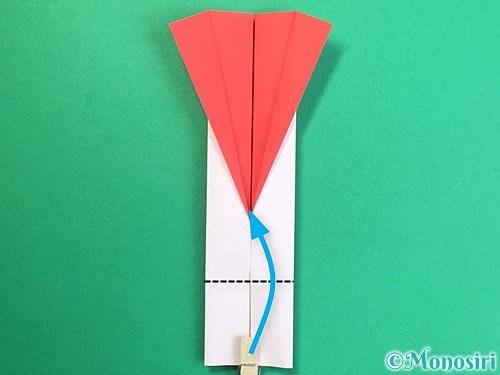 折り紙で羽子板と羽根の折り方手順36