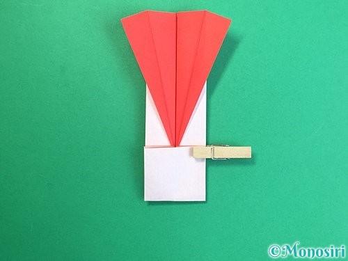 折り紙で羽子板と羽根の折り方手順37