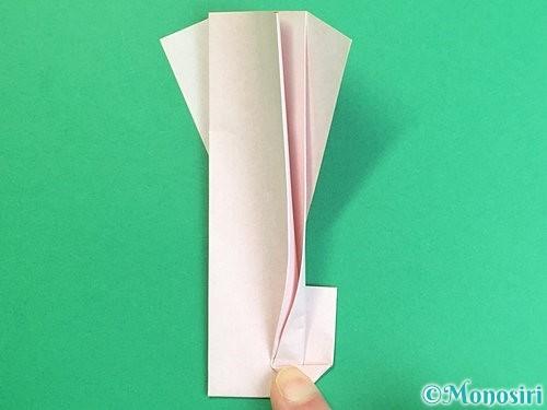 折り紙で羽子板と羽根の折り方手順42
