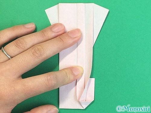 折り紙で羽子板と羽根の折り方手順43